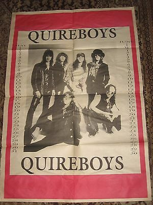 The Quireboys large fold-out poster 1993 calendar Poison Iron Maiden Radiohead