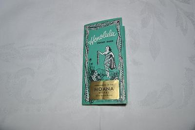 VINTAGE HONOLULU POCKET GUIDE – 1953 Maps, Ads, Tourist Tips - MOANA HOTEL !!!!