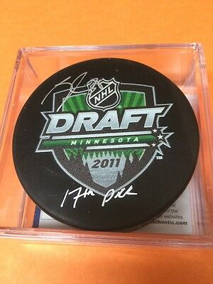 Nathan Beaulieu Autograph Draft Day Puck Montreal Canadiens With COA