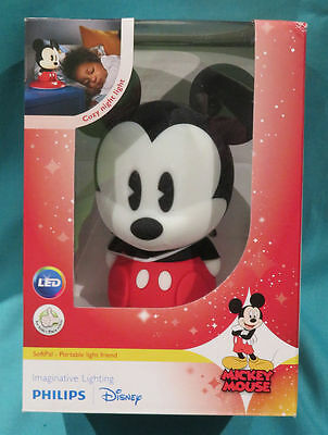 Mickey Mouse Philips Disney Led Table And Portable Night Light New In Box