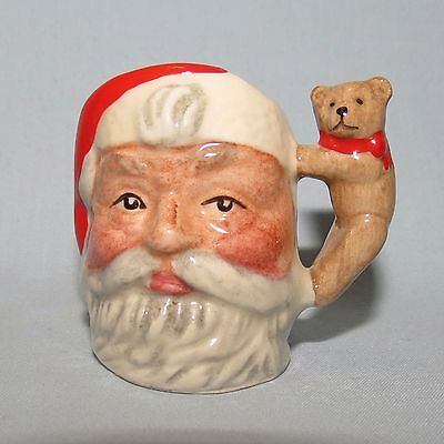 Royal Doulton Santa Claus Teddy Bear Handle Ltd Ed tiny size character jug D7060