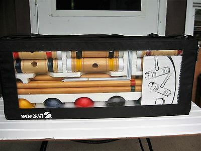 Sportcraft Croquet Set for six, carying case, original package, appears unused