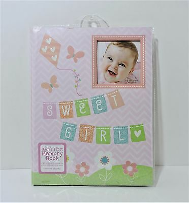 NEW Sweet Girl Stepping Stones Keepsake Memory Baby Book by C.R. Gibson