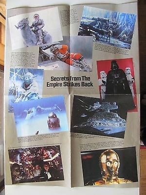 Star Wars Secrets... Empire Strikes Back Poster ~Dynamite Magazine Pull-Out 1980