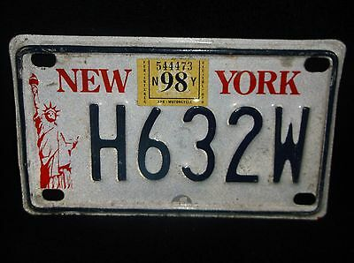 New York Liberty Motorcycle License Plate