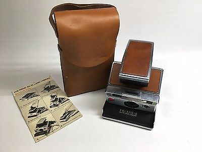 Vintage Polaroid SX-70 Land Camera, with Case and direction sheet