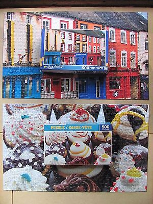 Jigsaw Puzzle Lot of 2 ~ 500 Pieces Each Complete – Puzzlebug Greenbrier 2014