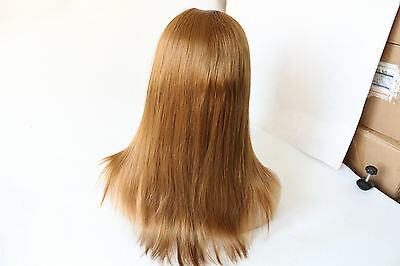 """Heat resistant synthetic hair front lace wig 14"""" #27 straight UPS shipping"""