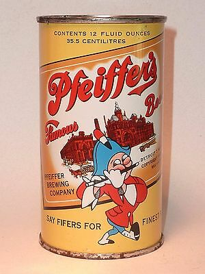 12oz Pfeiffer's Famous Beer Flat Top *** Clean Michigan Can !!! ***