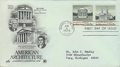 1979 - Fdc - American Architecture - Rotunda Baltimore Cathederal