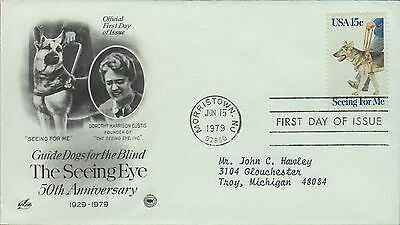 1979 - Fdc - Guide Dogs For The Blind - The Seeing Eye - 50Th Anniversary