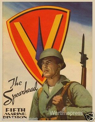 Lot of 10 New Postcards, The Spearhead - Fifth Marines Division