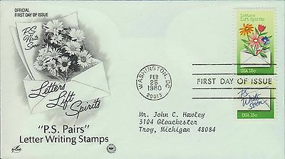 1980 - Fdc - Letters Lift Spirits - Ps Write Soon