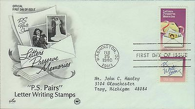 1980 - Fdc - Letters Preserve Memories - Ps Write Soon