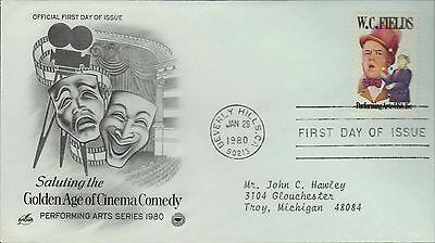 1980 - Fdc - Saluting The Golden Age Of Cinema Comedy - Beverly Hills - Jan 29