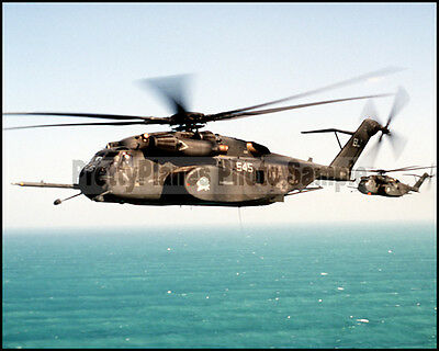 USN MH-53 Sea Dragon Helicopter HM-14 Desert Shield 1992 8x10 Photo