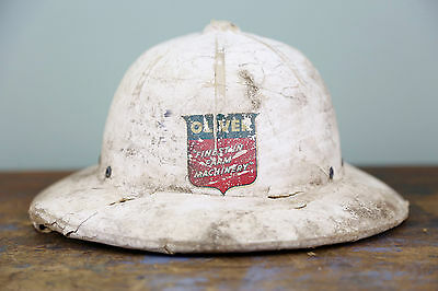 Vintage Oliver Farm Tractor Machinery Advertising Hard/Safari Tractor Hat Farmer