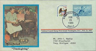 1980 - Norman Rockwell - Commemorative Society - Thanksgiving