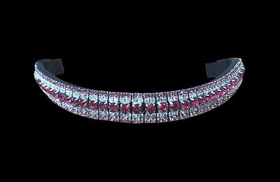 30% off SALE! 'Lumiere' pink crystal browband