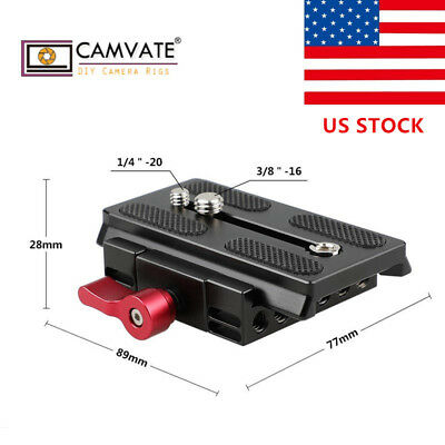 US CAMVATE Quick Release Mount Base QR for Manfrotto 577/ 501/ 504 701 Tripod