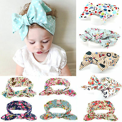 DIY Newborn Headband Ribbon Floral Baby Headdress Kids Hair Band Girl Bow Knot