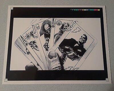 Alex Ross acetate promo preview original test art poker card design very rare