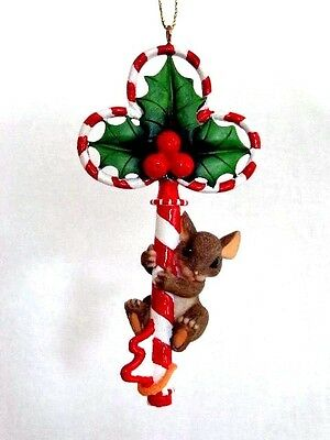 """Fitz & Floyd Charming Tails """"Key To The Holidays"""" Christmas Ornament  86/118"""