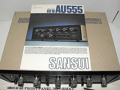"""Sansui AU-555 Near Mint Integrated Amplifier Rare And Hard To Find In """"GWO"""""""