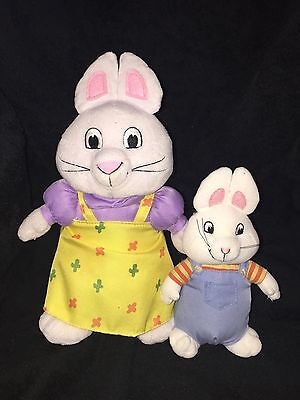 """TY 7"""" Max and 11"""" Big Sister Ruby Plush Stuffed Toy Lot"""