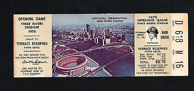 1970 Opening Game Three Rivers Stadium Pittsburgh Pirates  Reds Baseball Ticket