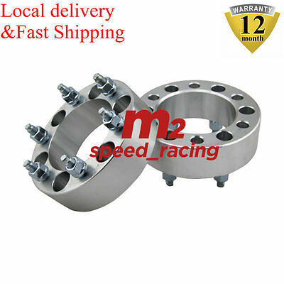 2PCS 50MM 6STUD WHEEL SPACERS For TOYOTA LANDCRUISER 40 60 75 80 SERIES