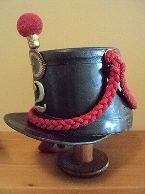 Original Mexican Cavalry Enlisted Leather Shako--French Import, Maximilian Era