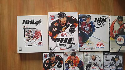 game lot of 11 NHL PC Games (96,98,99,2003 small and big box, 2004-2009) WORKING