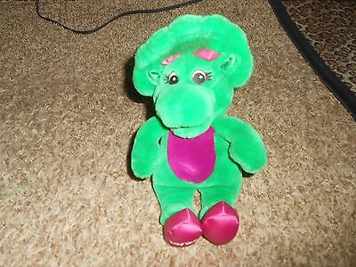"LYONS GROUP Singing BABY BOP Plush Little Red Wagon 11"" DINOSAUR Barney"