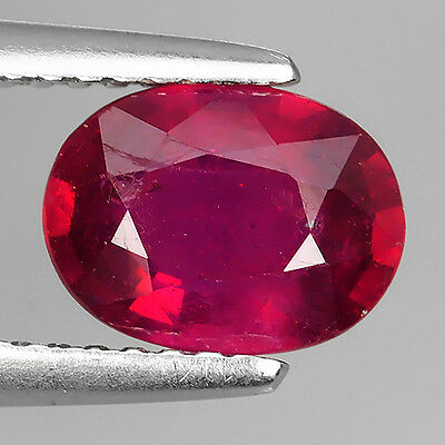 1.60 Ct Beautiful Blood Red Heating 100% Natural Ruby Oval Cut Loose Gemstones
