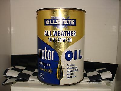 Allstate Motor Oil Can all weather blend empty from the 70s
