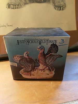 porcelain Austin Nichols Wild Turkey collectible Vintage Decanter new old stock