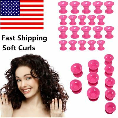 Mom Girls Girlfriend Magic Hair Curls Roller Curler No Clip Silicone Soft