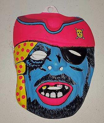 Vintage Halloween Fun World Pirate Mask NOS