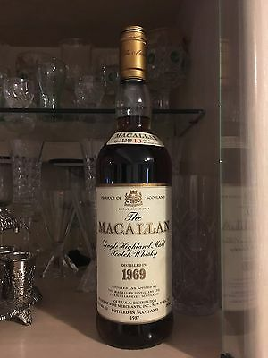 macallan 18 years old 1969 bottled 1987