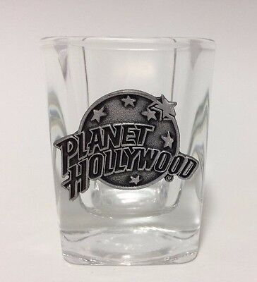 Planet Hollywood Shot Glass Pewter Emblem Bar Collection