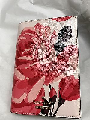 NWT Kate Spade Cameron Street Roses Passport Holder