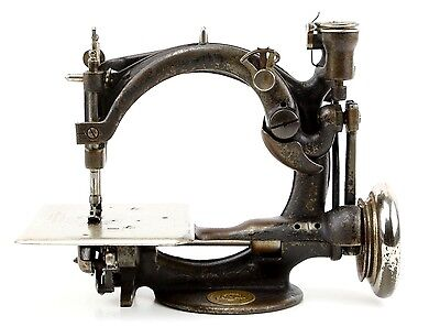 Antique Willcox & Gibbs 1920's Sewing Machine Original Vintage Leather Upholstry