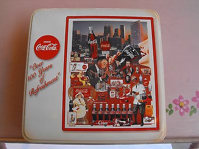"Coca-Cola ""Over 100 Years of Refreshment"" Tin with Puzzle"