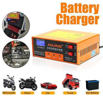 Car Battery Charger 100AH Automatic Intelligent Pulse Repair Type 220V 12V/24V