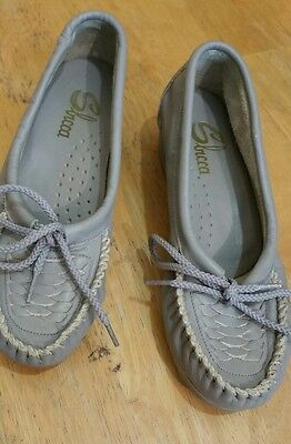 Slicca Women's Gray Slip work walk Shoes Size 5.5 M (#Lot21