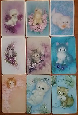 9 Cute CATS KITTENS Blank Back Swap Playing Cards