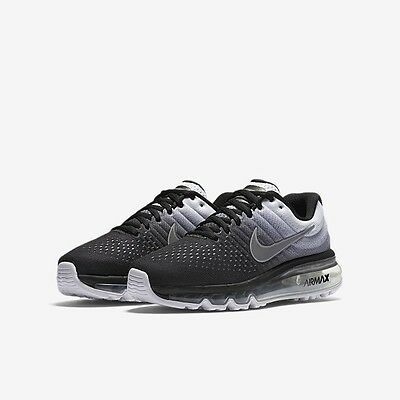 Nike Air Max 2017 Gs Big Kids Boys Youth Running Shoes Sneakers Black White 4