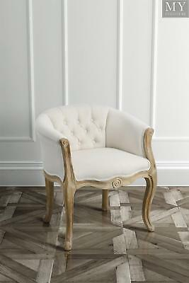 Quentin - Tub Chair Solid Oak French Style - Oatmeal