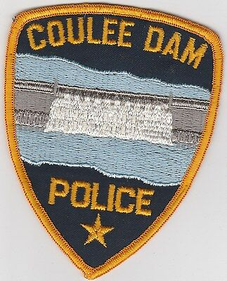 vintage Coulee Dam,  Washington Police Dept patch  WA   cheesecloth back